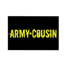 Army Cousin: Black and Gold Magnets