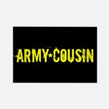 U.S. Army: Cousin (Blac Rectangle Magnet (10 pack)