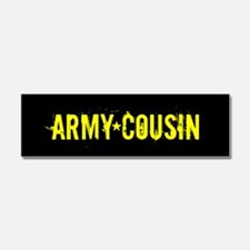 U.S. Army: Cousin (Black & Gold) Car Magnet 10 x 3