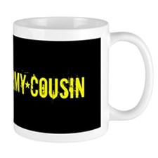 Army Cousin: Black and Gold Mugs