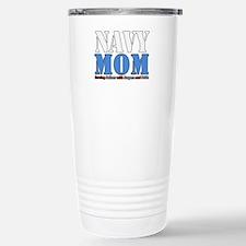 Navy Mom Blue Travel Mug