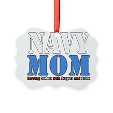 Navy Mom Blue Ornament