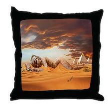 Cleopatra Sleeping Throw Pillow