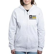 Army Mom Proud Zip Hoodie