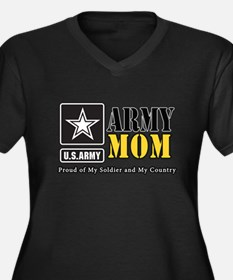 Army Mom Proud Plus Size T-Shirt