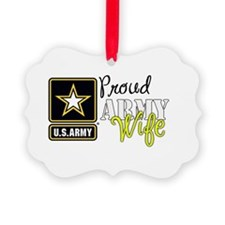 Proud Army Wife Star Ornament