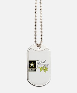 Proud Army Wife Star Dog Tags