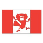 Canadian Flag Sticker (Rectangle 10 pk)