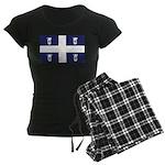 Quebec Flag Women's Dark Pajamas