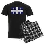 Quebec Flag Men's Dark Pajamas