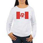 Canadian Flag Women's Long Sleeve T-Shirt