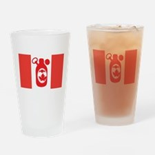 Stubbie Beer Canadian Flag Drinking Glass