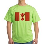 Stubbie Beer Canadian Flag Green T-Shirt