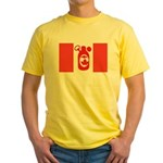 Stubbie Beer Canadian Flag Yellow T-Shirt