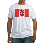 Stubbie Beer Canadian Flag Fitted T-Shirt