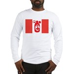 Stubbie Beer Canadian Flag Long Sleeve T-Shirt