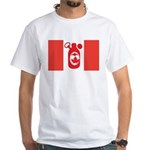 Stubbie Beer Canadian Flag White T-Shirt