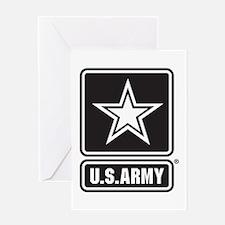 Army Black Star Logo Greeting Cards