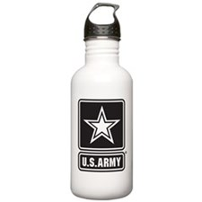 Army Black Star Logo Water Bottle