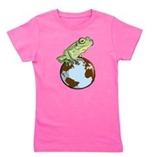 Frog on the World! Girl's Tee