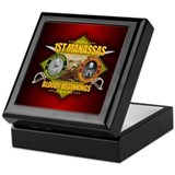 Confederate general Square Keepsake Boxes
