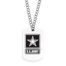 Army Black Star Logo Dog Tags