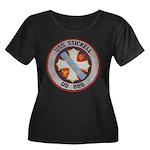 USS STIC Women's Plus Size Scoop Neck Dark T-Shirt