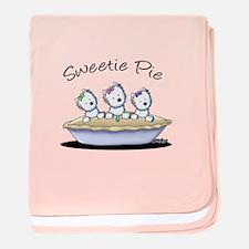 Westie Sweetie Pie baby blanket