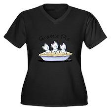 Westie Sweet Women's Plus Size V-Neck Dark T-Shirt
