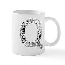 Black and Gray Q Mugs