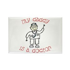 Daddy is a Doctor Rectangle Magnet (10 pack)