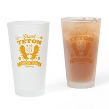 Grand Teton Camper Drinking Glass
