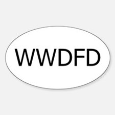 What would Desiree Ficker Do? Oval Decal