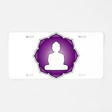 LotusBuddha_6th.psd Aluminum License Plate