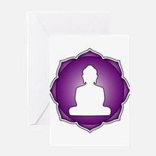LotusBuddha_6th.psd Greeting Card