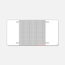 many_oms.psd Aluminum License Plate