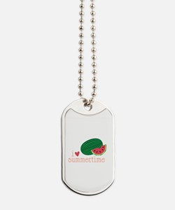 I Love Summertime Dog Tags