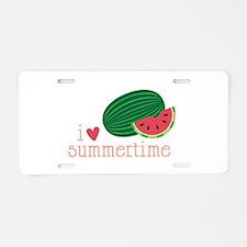 I Love Summertime Aluminum License Plate