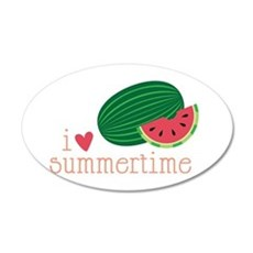 I Love Summertime Wall Decal