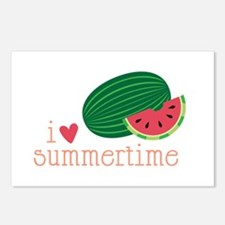 I Love Summertime Postcards (Package of 8)
