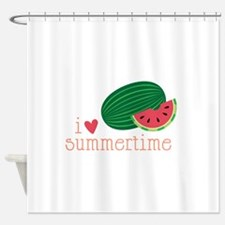 I Love Summertime Shower Curtain