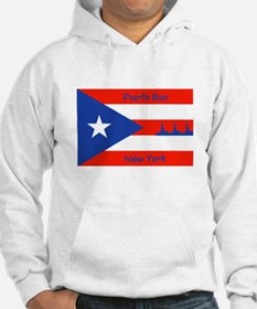 Puerto Rico New York Flag Lady Liberty Hoodie