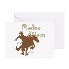 Rodeo Mom Wester Cowboy Cowgirl Greeting Cards (Pk