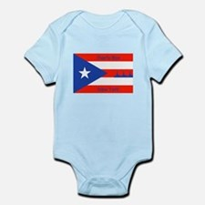 Puerto Rico New York Flag Lady Liberty Body Suit