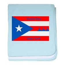 Puerto Rico New York Flag Lady Liberty baby blanke