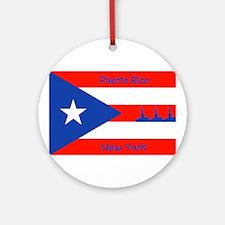 Puerto Rico New York Flag Lady Liberty Ornament (R