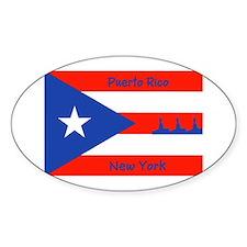 Puerto Rico New York Flag Lady Liberty Decal