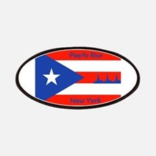 Puerto Rico New York Flag Lady Liberty Patches