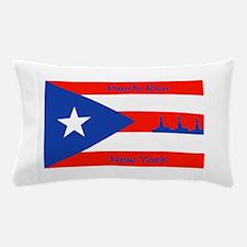 Puerto Rico New York Flag Lady Liberty Pillow Case