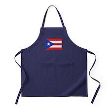 Puerto Rico New York Flag Lady Liberty Apron (dark